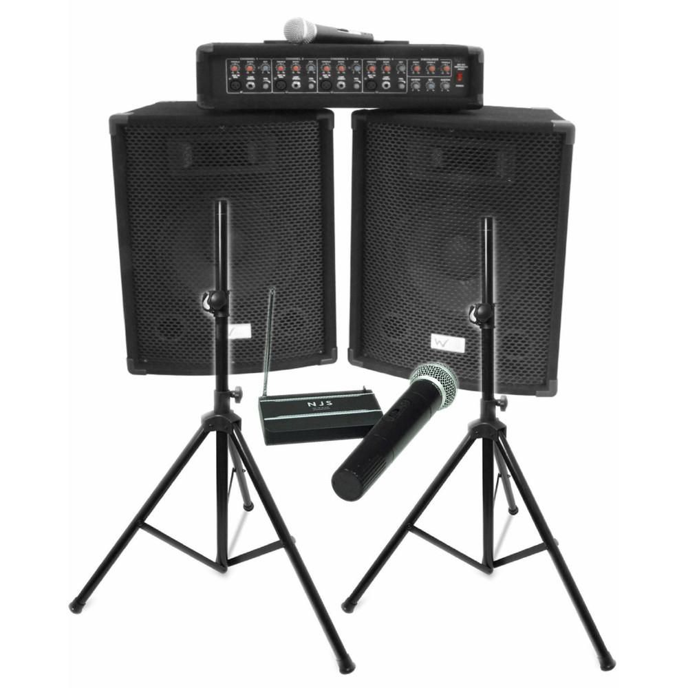 W Audio Gig Rig 200w Performer Package-Portable PA-DJ Supplies Ltd