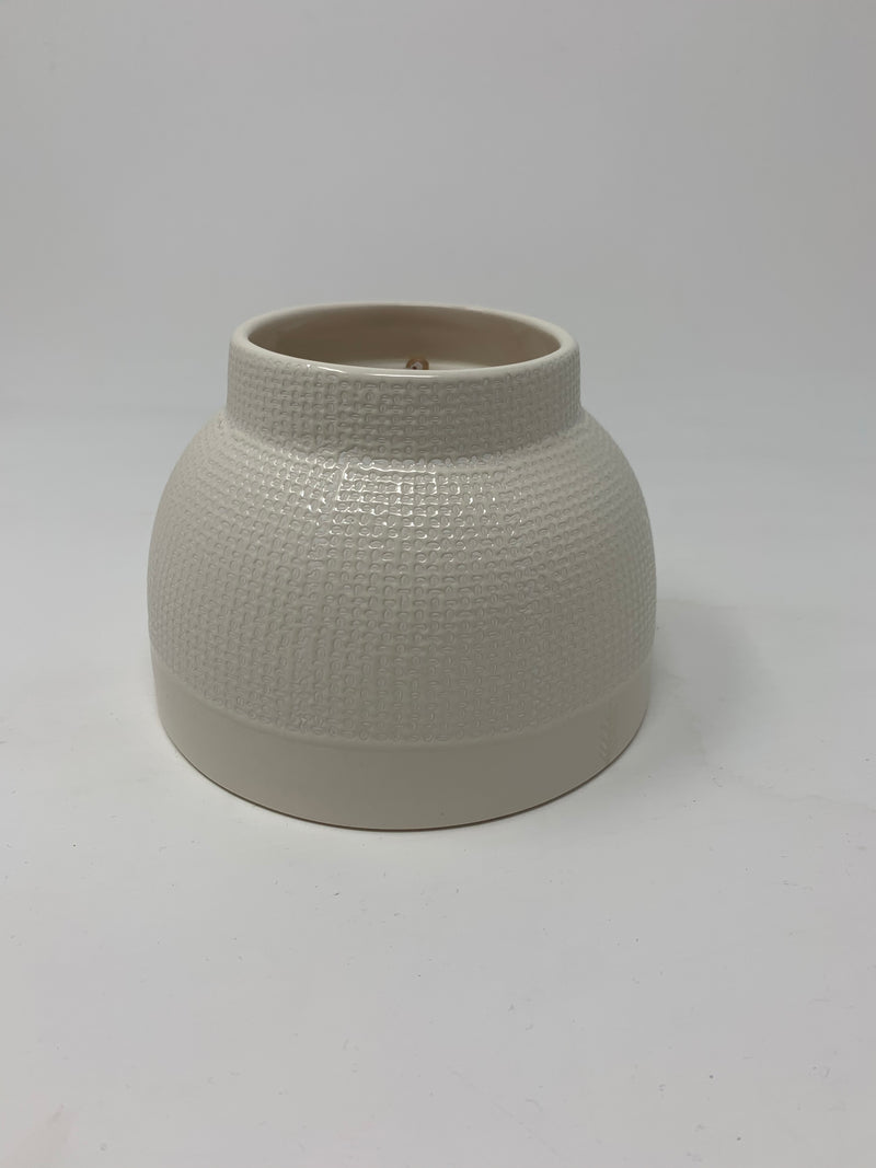 Winter Mint Textured Ceramic Candle