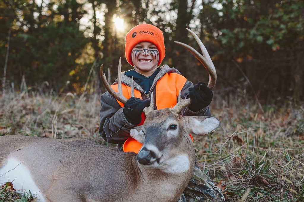6-Year Old Youngster with Fantastic Buck (from Amanda Hyde)