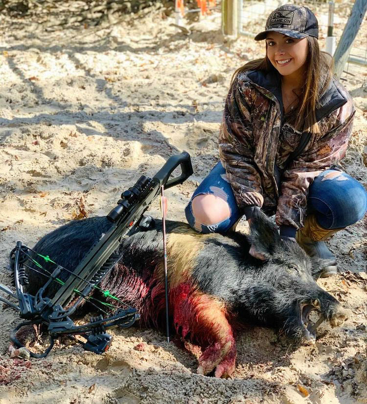 Ashley Weathersby Hog Hunting