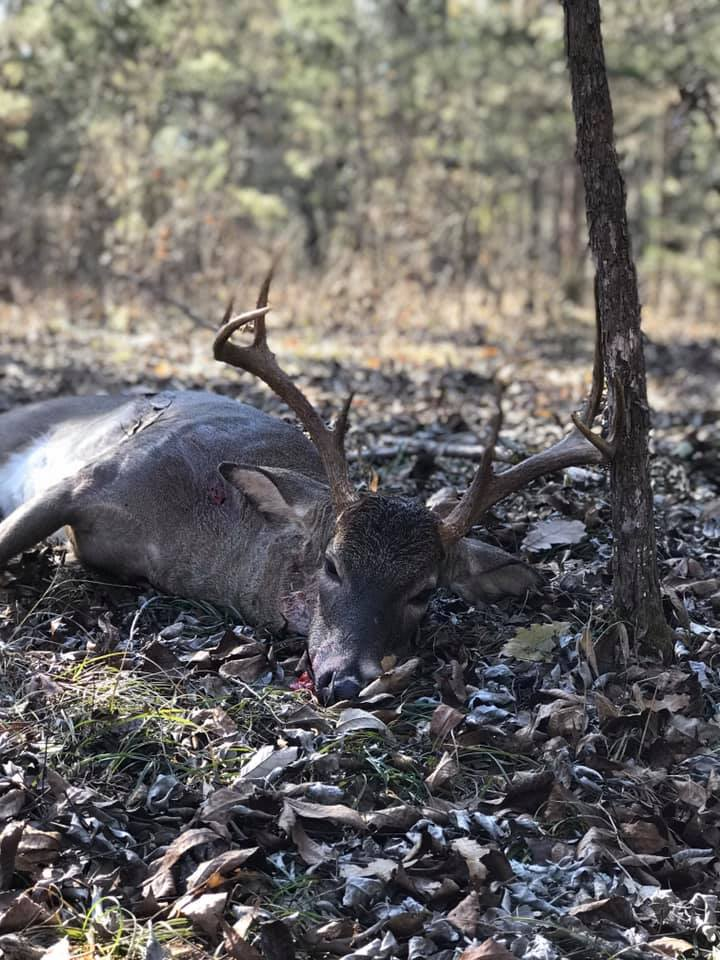 David Newburn Shoots First Buck of the Rifle Season
