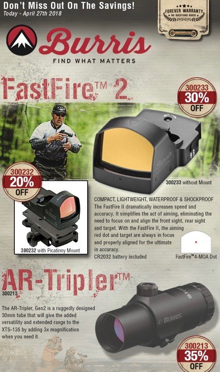Big 35% Discount on Burris Sights - Limited Time