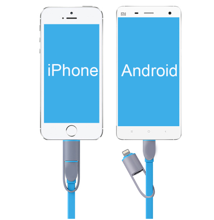 2 IN 1 CABLE CHARGER FOR IPHONE AND ANDROID - NiceHotDeals.com - Shopping made easy