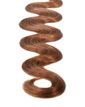 "BELLAMI Professional Tape-In 18"" 50g Chestnut Brown #6 Natural Body Wave Hair Extensions"