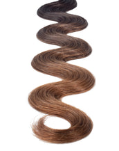 "BELLAMI Professional I-Tips 24"" 25g Dark Brown/Chestnut Brown #2/#6 Balayage Body Wave Hair Extensions"