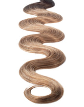 "BELLAMI Professional Keratin Tip 24"" 25g Mochachino Brown/Caramel Blonde #1C/#18/#46 Rooted Body Wave Hair Extensions"