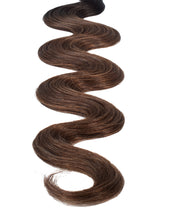 "BELLAMI Professional Keratin Tip 20"" 25g Off Black/Mocha Creme #1b/#2/#6 Rooted Body Wave Hair Extensions"