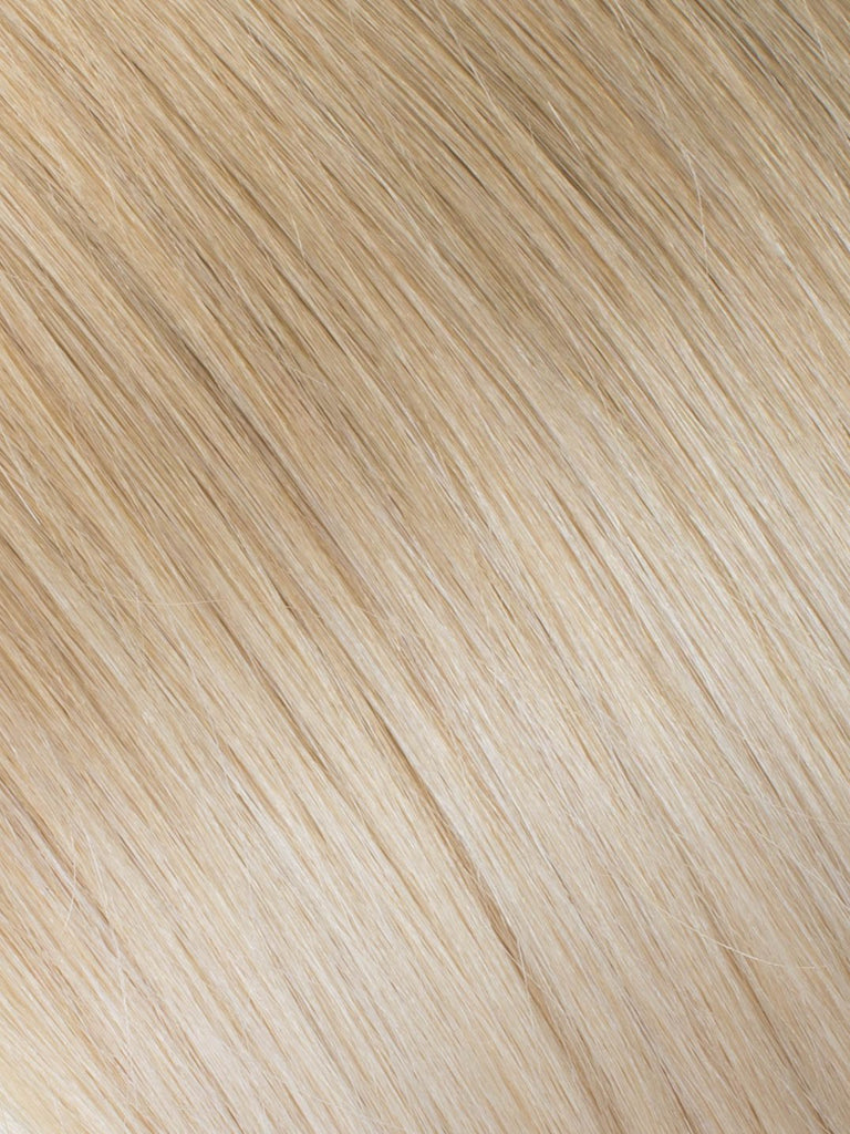 "BELLAMI Professional Micro I-Tips 18"" 25g  Ash Brown/Golden Blonde #8/#610 Ombre Straight Hair Extensions"