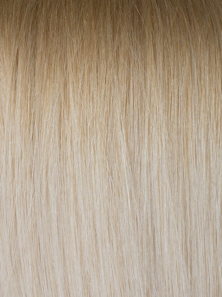 "BELLAMI Professional Micro Keratin Tip 16"" 25g  Ash Brown/Golden Blonde #8/#610 Rooted Straight Hair Extensions"