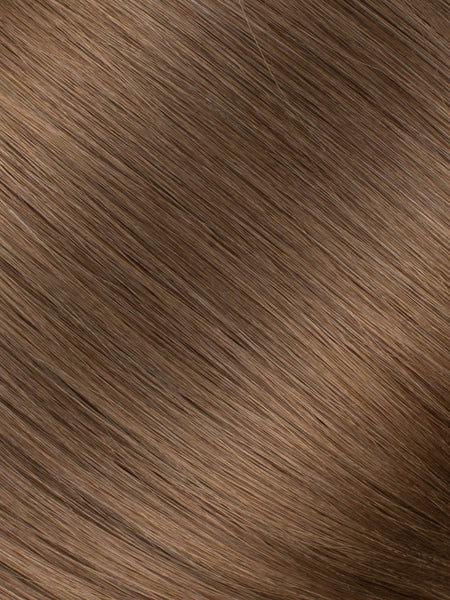 "BELLAMI Professional Micro Keratin Tip 18"" 25g  Ash Brown #8 Natural Straight Hair Extensions"