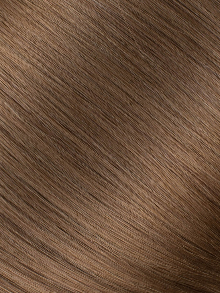 "BELLAMI Professional Micro Keratin Tip 16"" 25g  Ash Brown #8 Natural Straight Hair Extensions"