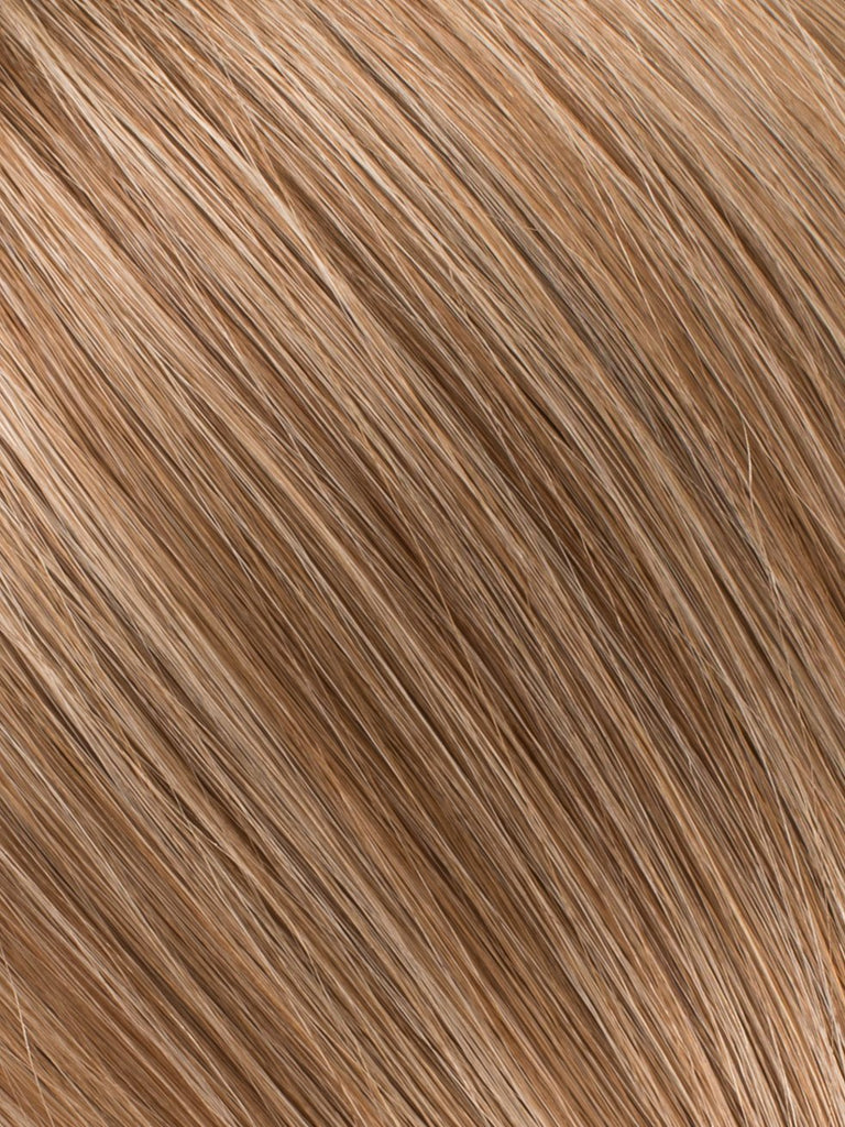 "BELLAMI Professional Micro I-Tips 18"" 25g  Bronde #4/#22 Marble Blends Straight Hair Extensions"