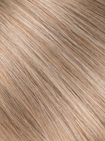 "BELLAMI Professional Micro I-Tips 18"" 25g  Caramel Blonde #18/#46 Marble Blends Straight Hair Extensions"