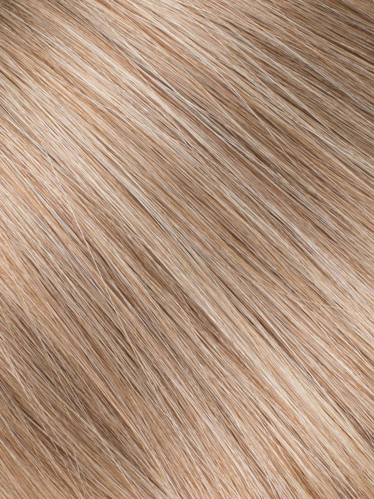 "BELLAMI Professional Micro Keratin Tip 20"" 25g  Caramel Blonde #18/#46 Marble Blends Straight Hair Extensions"