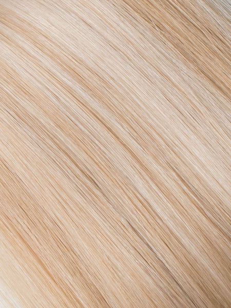 "BELLAMI Professional Micro I-Tips 18"" 25g  Champagne Blonde #9/#610 Marble Blends Straight Hair Extensions"