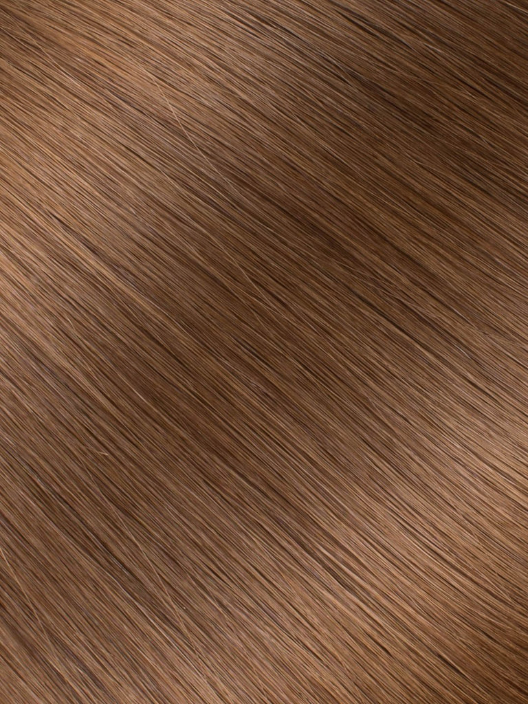 "BELLAMI Professional Micro I-Tips 18"" 25g  Chestnut Brown #6 Natural Straight Hair Extensions"