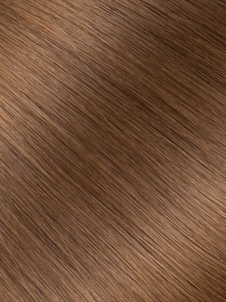 "BELLAMI Professional Micro Keratin Tip 18"" 25g  Chestnut Brown #6 Natural Straight Hair Extensions"