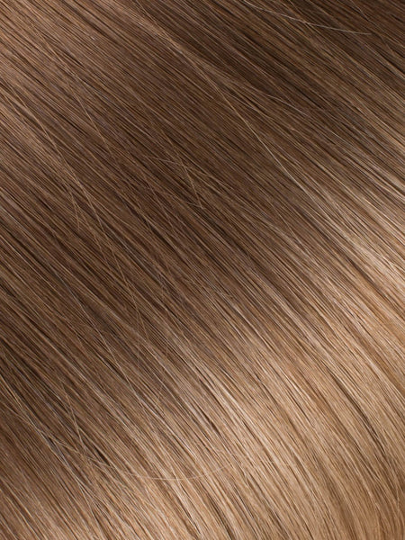 "BELLAMI Professional Micro I-Tips 18"" 25g  Chocolate Bronzed #4/#16 Ombre Straight Hair Extensions"