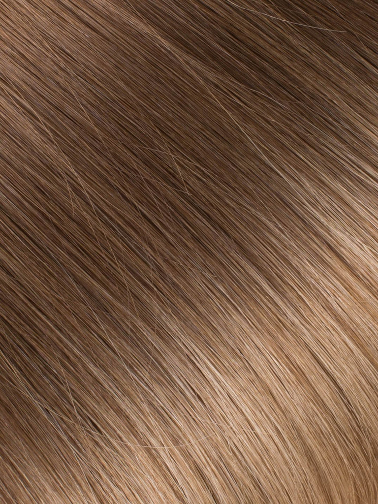 "BELLAMI Professional Micro I-Tips 20"" 25g  Chocolate Bronzed #4/#16 Ombre Straight Hair Extensions"