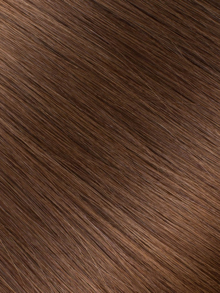 "BELLAMI Professional Micro Keratin Tip 18"" 25g  Chocolate Brown #4 Natural Straight Hair Extensions"