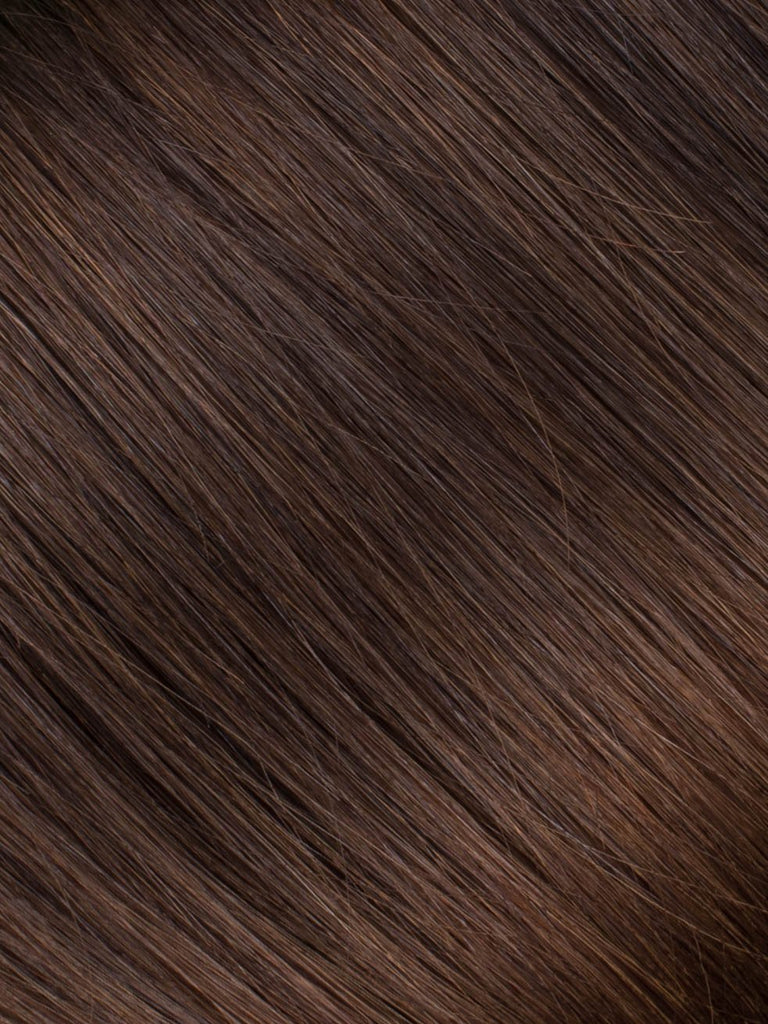 "BELLAMI Professional Tape-In 16"" 50g  Chocolate mahogany #1B/#2/#4 Sombre Straight Hair Extensions"