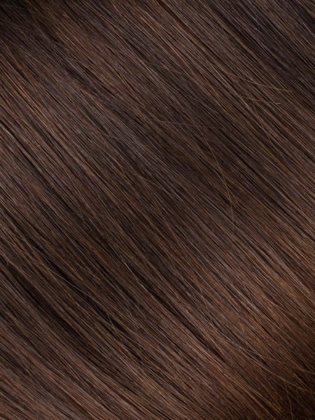 "BELLAMI Professional Micro I-Tips 20"" 25g  Chocolate mahogany #1B/#2/#4 Sombre Straight Hair Extensions"