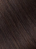 "BELLAMI Professional Micro Keratin Tip 16"" 25g  Dark Brown #2 Natural Straight Hair Extensions"
