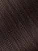 "BELLAMI Professional Keratin Tip 24"" 25g  Dark Brown #2 Natural Straight Hair Extensions"