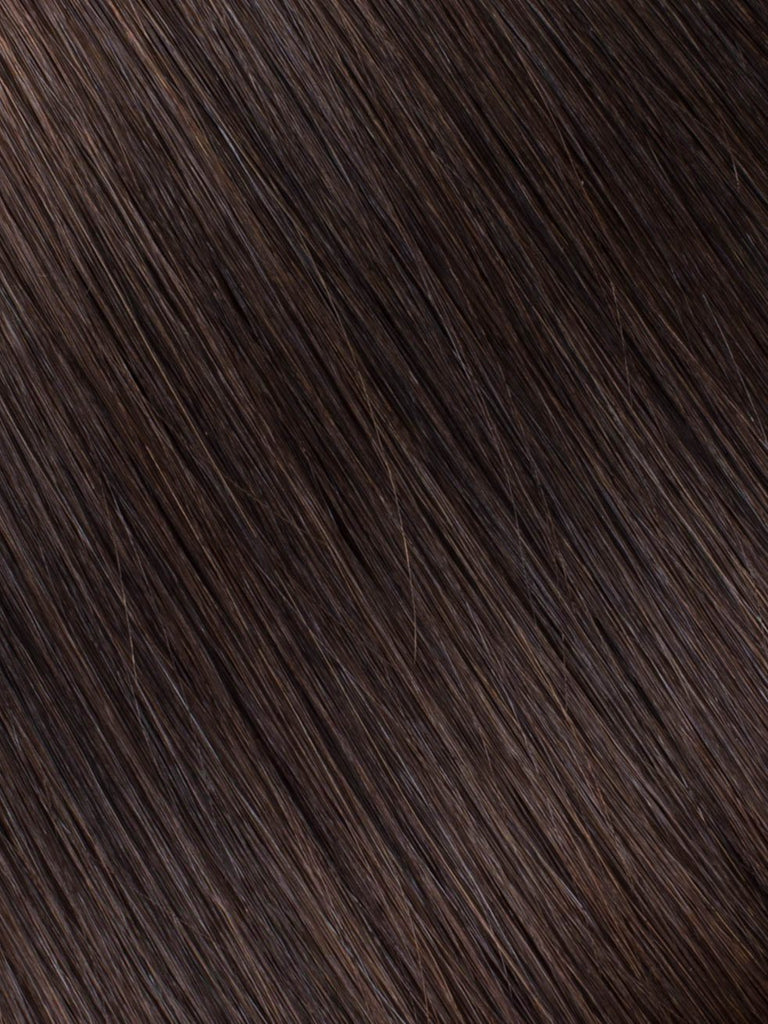 "BELLAMI Professional Micro I-Tips 20"" 25g  Dark Brown #2 Natural Straight Hair Extensions"