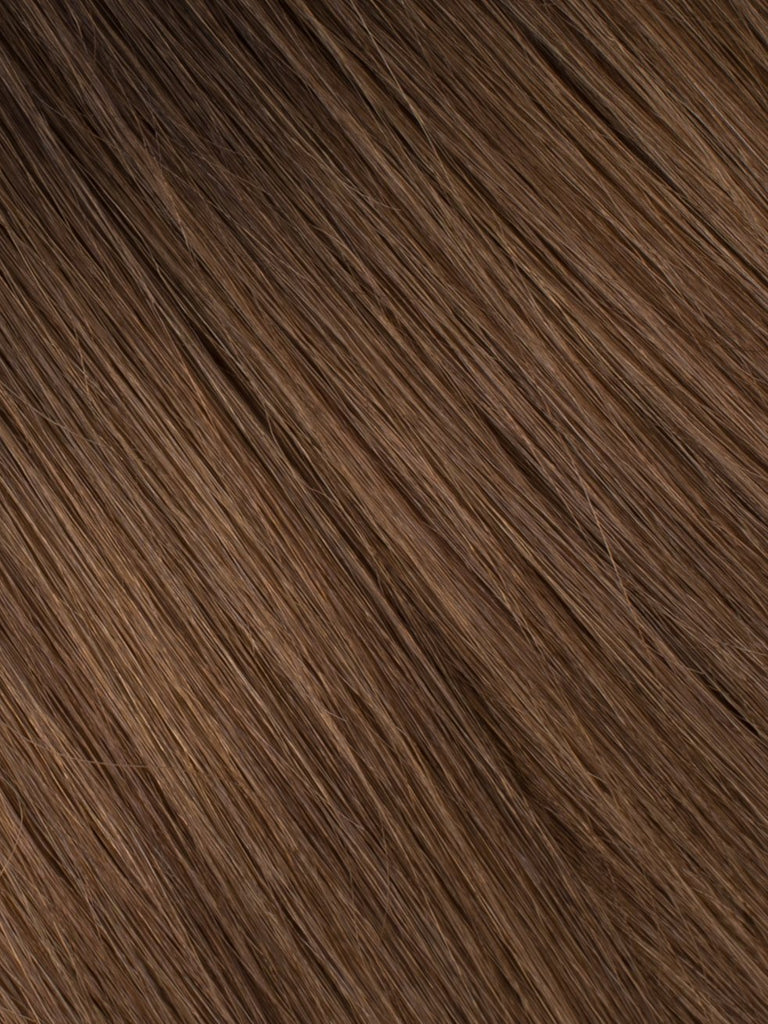 "BELLAMI Professional Micro I-Tips 18"" 25g  Dark Brown/Chestnut Brown #2/#6 Balayage Straight Hair Extensions"