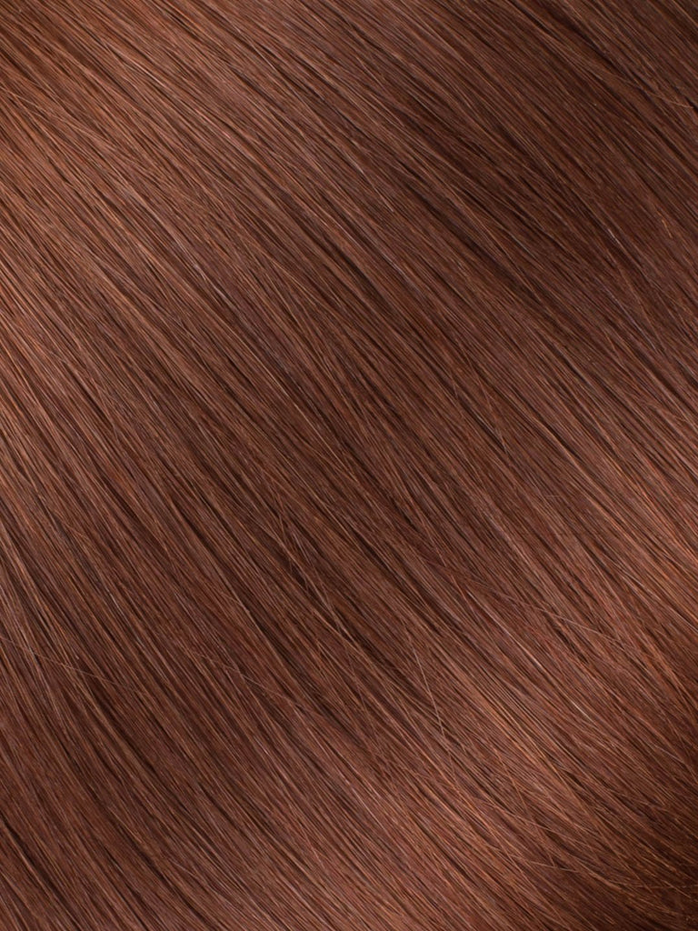 "BELLAMI Professional Tape-In 16"" 50g  Dark Chestnut Brown #10 Natural Straight Hair Extensions"