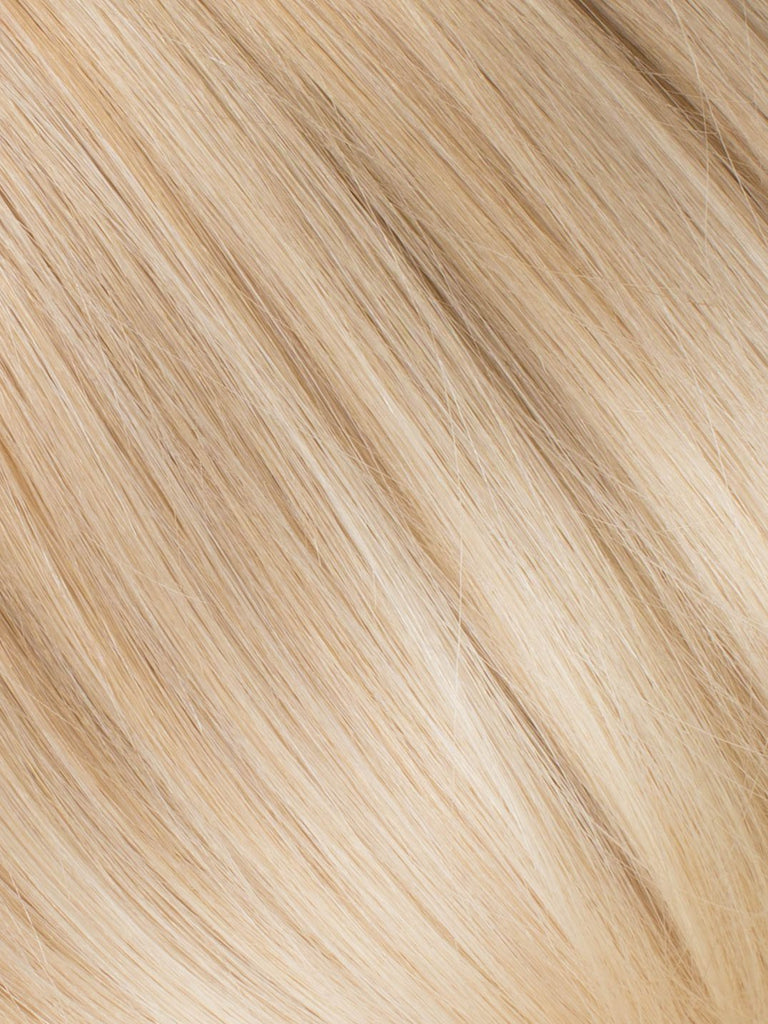 "BELLAMI Professional Micro I-Tips 20"" 25g  Dirty Blonde/Platinum #18/#70 Sombre Straight Hair Extensions"
