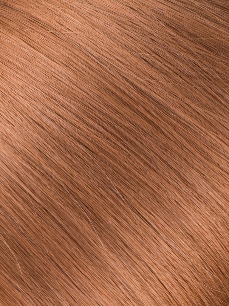 "BELLAMI Professional Micro I-Tips 16"" 25g  Ginger #30 Natural Straight Hair Extensions"