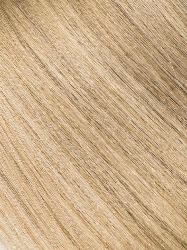 "BELLAMI Professional Micro I-Tips 16"" 25g  Golden Amber Blonde #18/#6 Highlights Straight Hair Extensions"