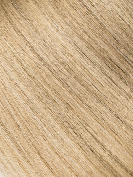 "BELLAMI Professional Micro I-Tips 18"" 25g  Golden Amber Blonde #18/#6 Highlights Straight Hair Extensions"