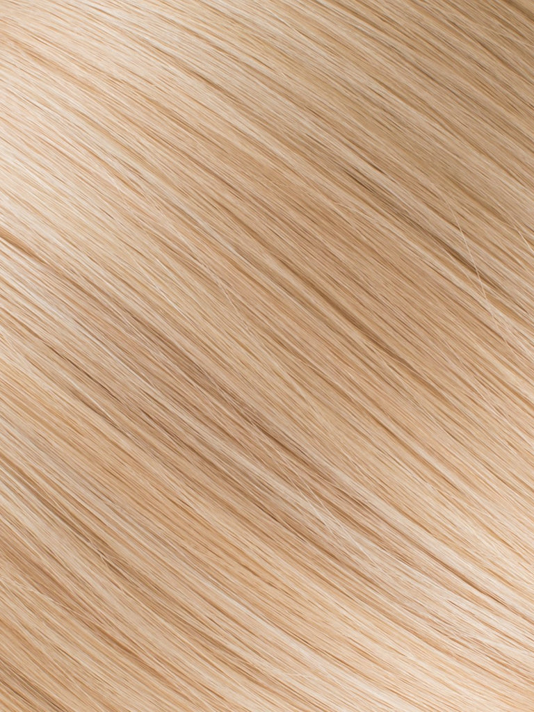 "BELLAMI Professional Micro I-Tips 18"" 25g  Honey Blonde #20/#24/#60 Natural Straight Hair Extensions"