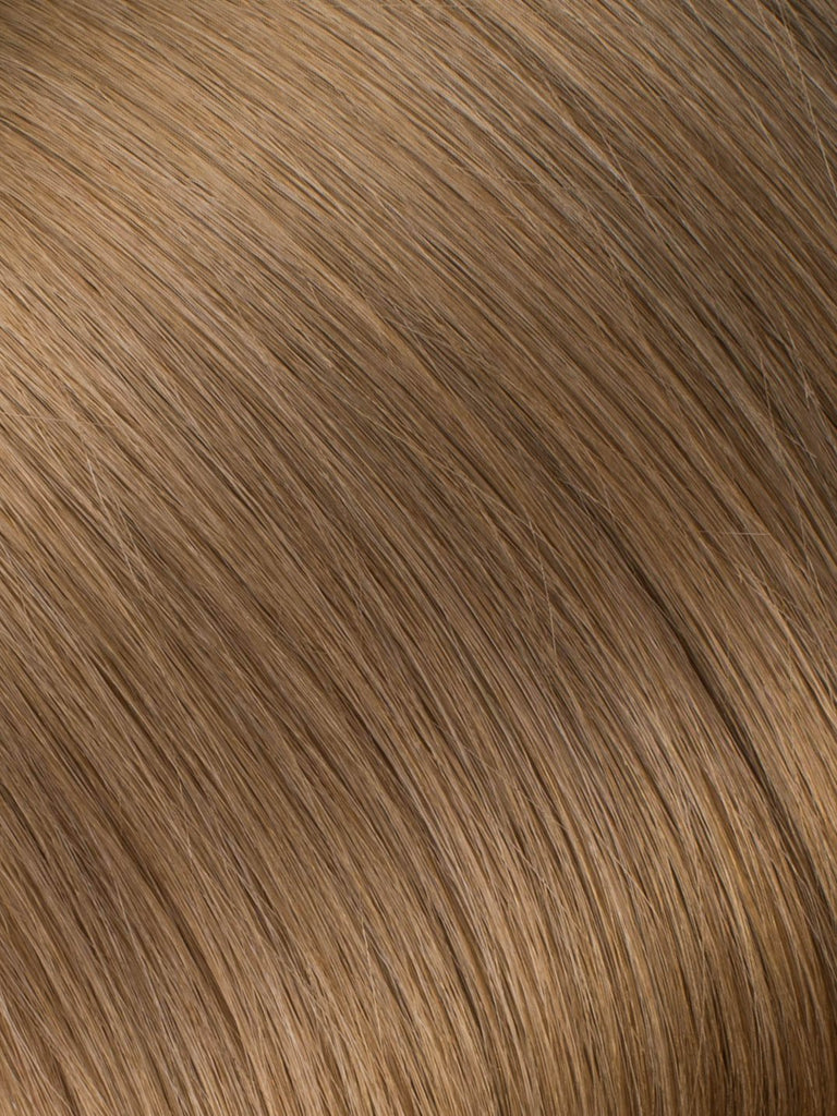 "BELLAMI Professional Micro I-Tips 18"" 25g  Light Ash Brown #9 Natural Straight Hair Extensions"