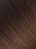 "BELLAMI Professional Tape-In 22"" 50g  Mochachino Brown/Chestnut Brown #1C/#6 Ombre Straight Hair Extensions"