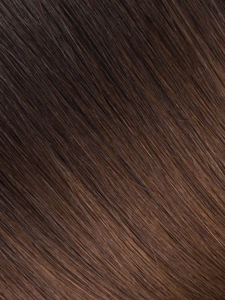 "BELLAMI Professional Tape-In 20"" 50g Mochachino Brown/Chestnut Brown #1C/#6 Ombre Body Wave Hair Extensions"