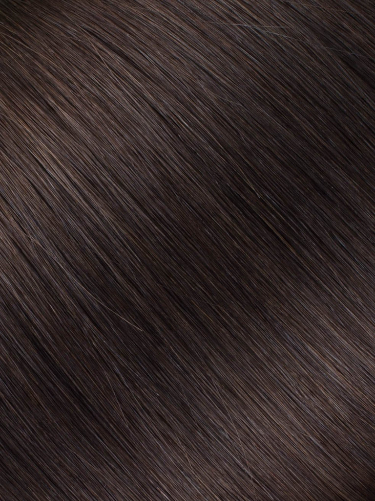 "BELLAMI Professional Micro I-Tips 16"" 25g  Mochachino Brown #1C Natural Straight Hair Extensions"