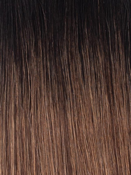 "BELLAMI Professional I-Tips 22"" 25g  Off Black/Mocha Creme #1b/#2/#6 Rooted Straight Hair Extensions"