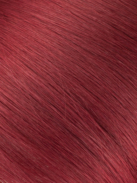 "BELLAMI Professional Micro I-Tips 18"" 25g  Ruby Red #99J Natural Straight Hair Extensions"