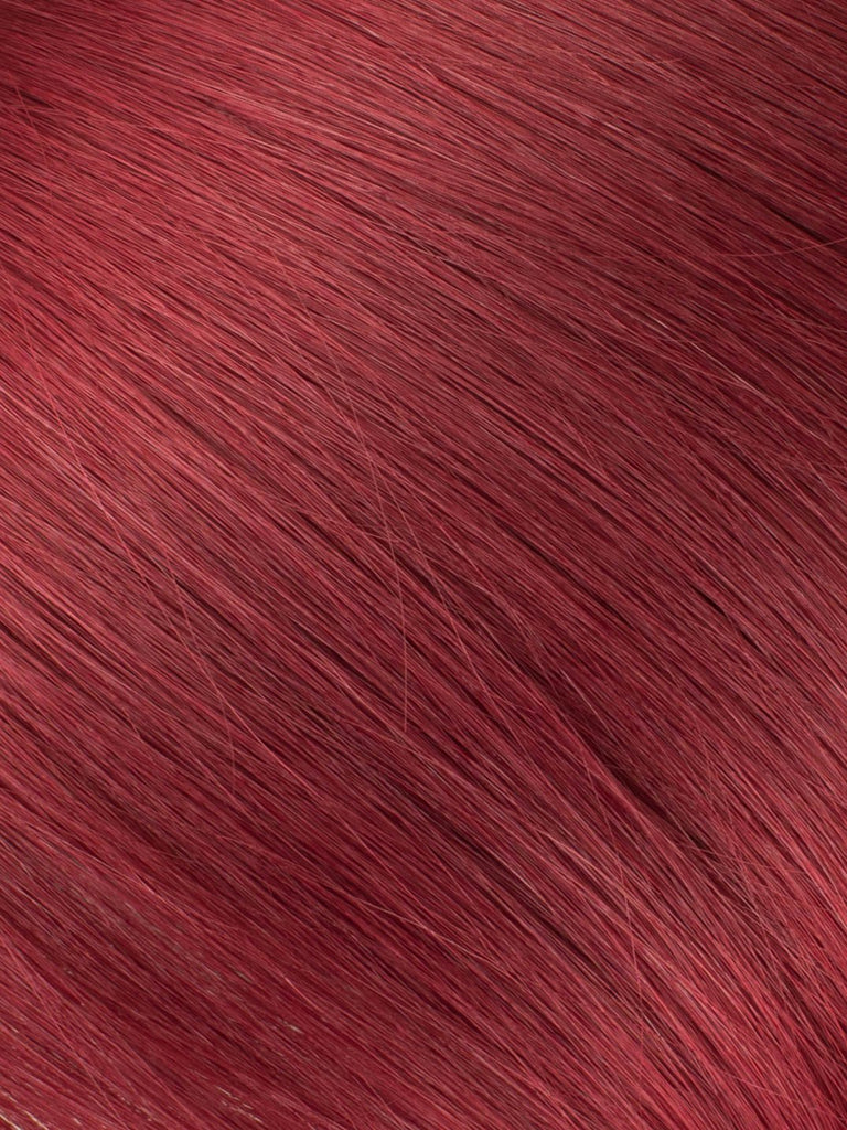 "BELLAMI Professional Micro Keratin Tip 18"" 25g  Ruby Red #99J Natural Straight Hair Extensions"