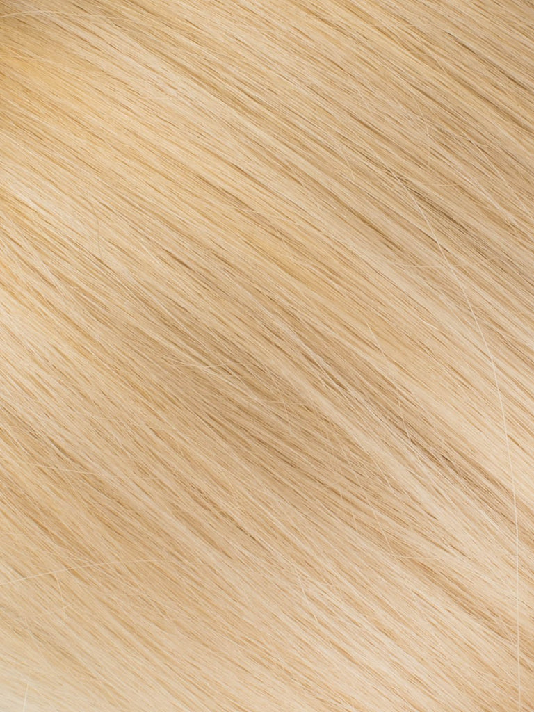 "BELLAMI Professional Micro I-Tips 18"" 25g  Sandy Blonde/Ash Blonde #24/#60 Sombre Straight Hair Extensions"