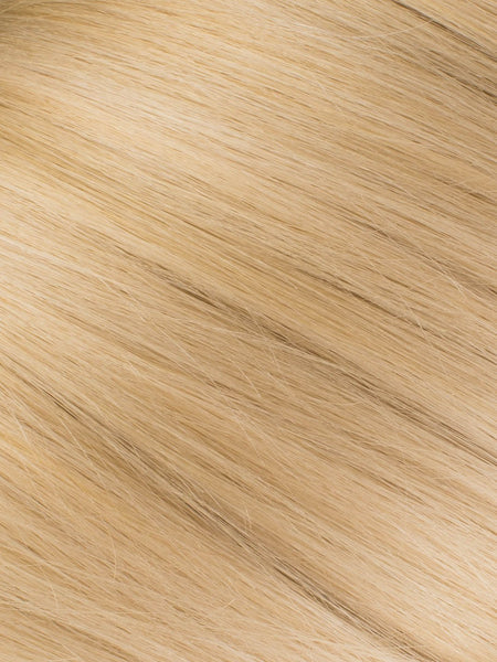 "BELLAMI Professional Micro Keratin Tip 18"" 25g Sandy Blonde/Ash Blonde #24/#60 Natural Straight Hair Extensions"