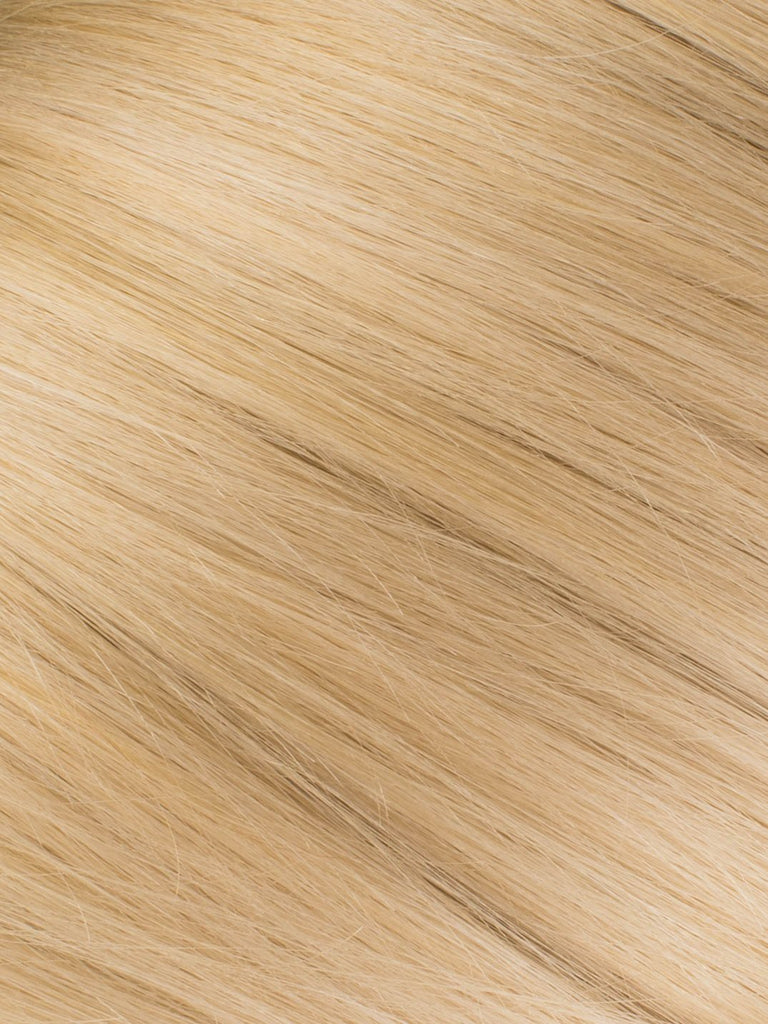 "BELLAMI Professional Micro I-Tips 16"" 25g  Sandy Blonde/Ash Blonde #24/#60 Natural Straight Hair Extensions"