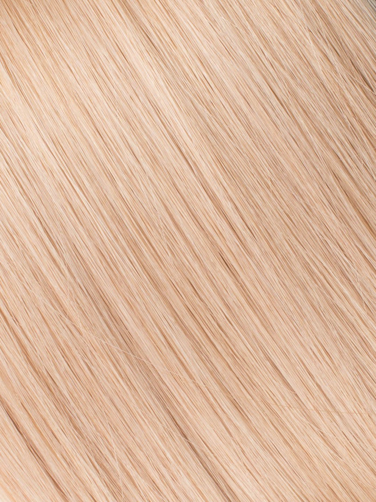 "BELLAMI Professional Micro Keratin Tip 16"" 25g  Strawberry Blonde #27 Natural Straight Hair Extensions"