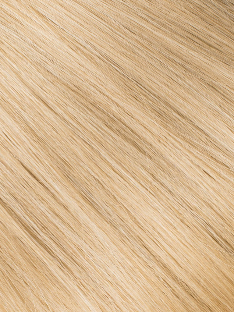 "BELLAMI Professional Micro I-Tips 20"" 25g  Sunkissed Golden Blonde #18/#60/#610 Marble Blends Straight Hair Extensions"
