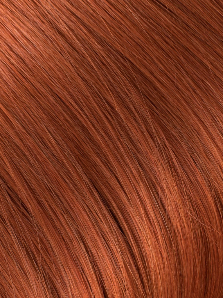 "BELLAMI Professional Micro I-Tips 16"" 25g  Tangerine Red #130 Natural Straight Hair Extensions"