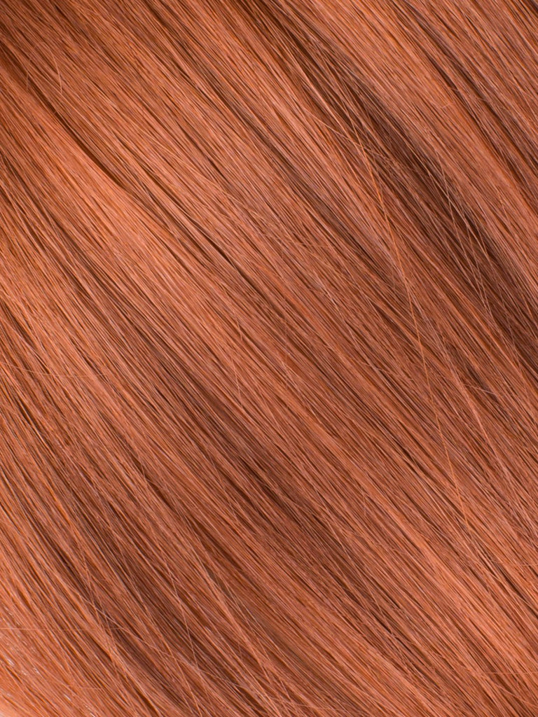 "BELLAMI Professional Tape-In 14"" 50g  Vibrant Auburn #33 Natural Straight Hair Extensions"